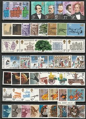GB 1973-74 DECIMAL Stamps Collection COMMEMORATIVES all UNMOUNTED MINT Ref:QK656