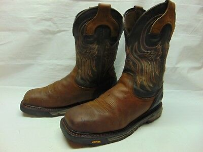 bacc7e68234 MENS ARIAT 10002420 Brown Cascade Lace Up Soft Toe Work Boots 12D ...