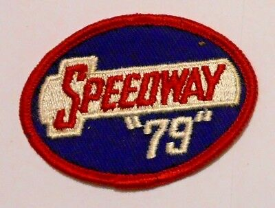 """Speedway 79 Gasoline Patch Embroidered Oil 2-3/4"""" inches Vintage"""