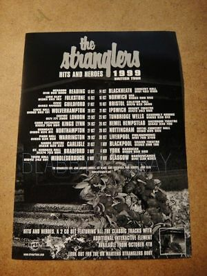 The Stranglers - Vintage A5 Flyer - From Uk Tour 1999 - Hits And Heroes Tour