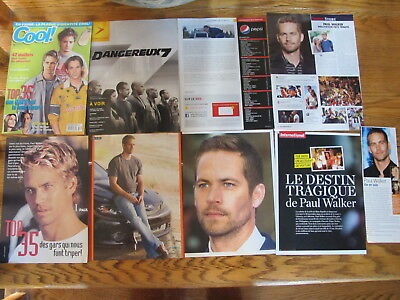 Paul Walker French Us Clippings, Poster
