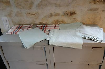 Set of 6 antique dishcloths with monograms