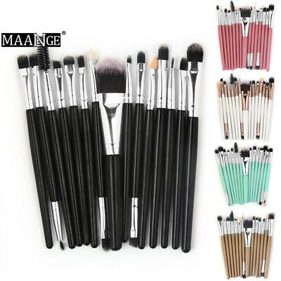 Pro 15PCS Make up Brushes Set Foundation Eyeshadow Eyeliner Powder Blusher Brush