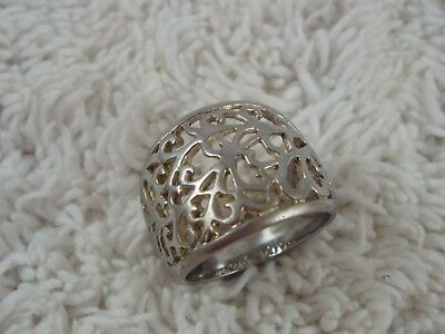 Stainless Steel Filigree Ring ~ Size 7 (C33)