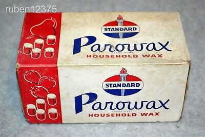 Sealed Standard Gas & Oil Parowax Paraffin Household Wax Box 4 Cakes Advertising
