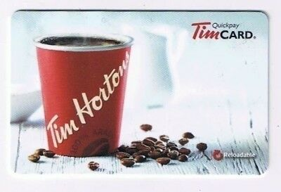 Tim Horton's 2015 Timcard Gift Card Coffee And Beans No Value