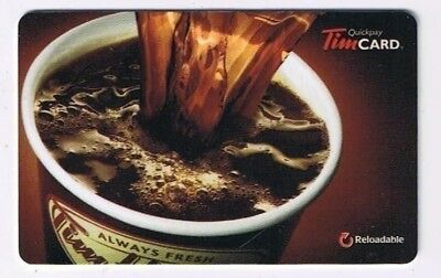 Tim Horton's 2014 Timcard Gift Card Pouring Coffee No Value