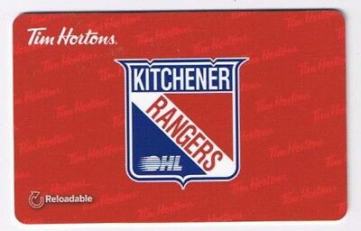Tim Horton's 2015 Gift Card OHL Kitchener Rangers No Value