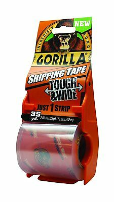 "Gorilla Glue 6045002 Packing Tape Tough & Wide w/ Dispenser, 2.83""x35 yd, Clear"
