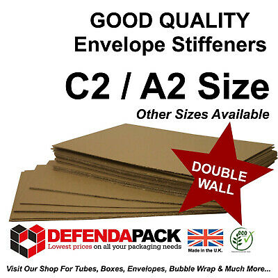 100 x C2 A2 ENVELOPE STIFFENERS 420 x 594mm STRONG Double Wall Corrugated Board