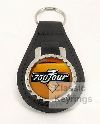 HONDA CB750 CANDY GOLD real leather motorcycle keyring keychain