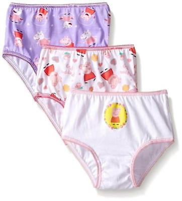 Peppa Pig Toddler Girls 3 Pack Assorted Color Panties Size 4T