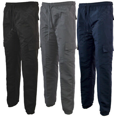 Mens Cargo Trousers Tracksuit Sport Casual Bottoms Sport Gym 6 Pockets S-2XL