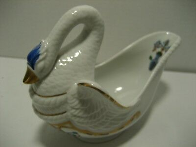 Orient Express Collection Gold Trimmed Porcelain Swan Candy Dish~Elizabeth Arden