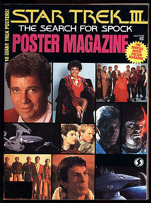 Star Trek III The Search For Spock (1984) Official Poster Magazine Shatner Fine