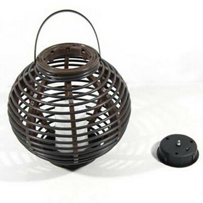 Garden Hanging Solar Lights Decorative Rattan Style Lantern with LED Candle