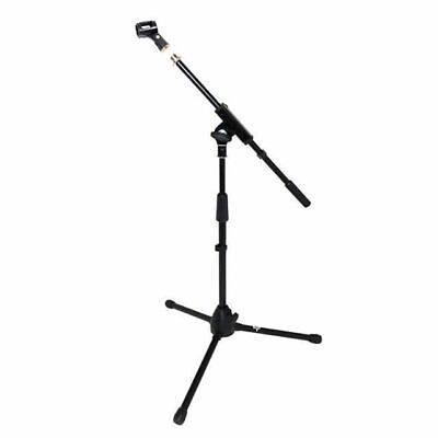 Short Microphone Boom Stand Unbreakable Tripod Base Telescopic Free Clip DP300