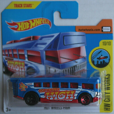 Hot Wheels Schulbus School Bus Hot Wheels High blau/rot Neu/OVP Mattel blue red