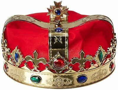King Costume Crown Adult One Size