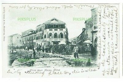 Old Chinese Postcard Macau China Graca & Co. Hong Kong Vintage C.1900