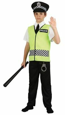Child Policeman Costume Boys Police Officer Uniform Fancy Dress Outfit