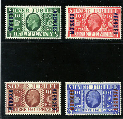 Morocco Agencies 1935 KGV Silver Jubilee set complete MLH. SG 62-65. Sc 226-229.