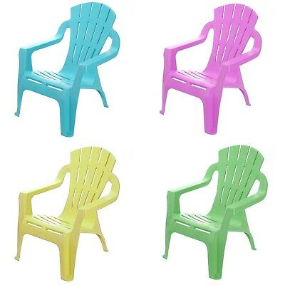 Kids Chair Children Seat Outdoor Garden Stackable Toddler Mixed 33 x 37 x 44cm