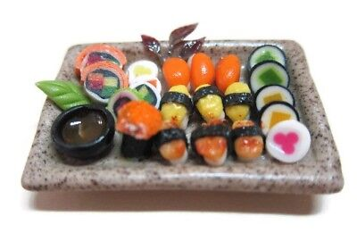 Sushi Japanese Food on Plate Dollhouse Miniatures Supply Deco Barbie - 2