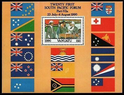 Vanuatu 1990 - Mi-Nr. Block 16 ** - MNH - South Pacific Forum