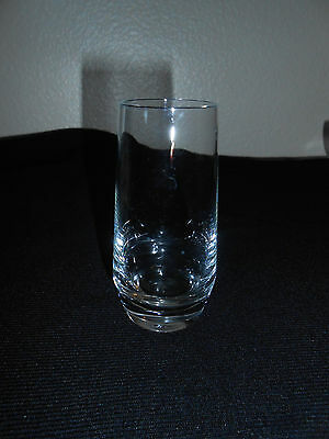 Vintage 2 Oz Double Shot Weighted Base Clear Shot Glass Very Nice! Free Ship!