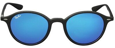 4698d5a430 Authentic RAY-BAN Round LITEFORCE RB4237 620617 Grey Blue Mirror Lens 50mm