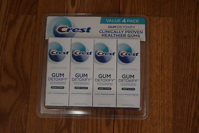 NWT CREST Value 4 Pack Gum Detoxify Deep Clean Tooth Paste Expires 11/2019