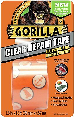 Gorilla Glue 6015002 Tape, Crystal Clear Duct tape, 1.88 x 5 yd, clear