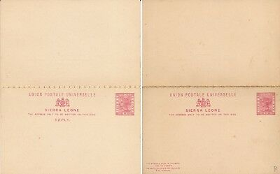 SIERRA LEONE 1880s', UNUSED DOUBLE STATIONERY CARD WITH REPLY.  #D1493