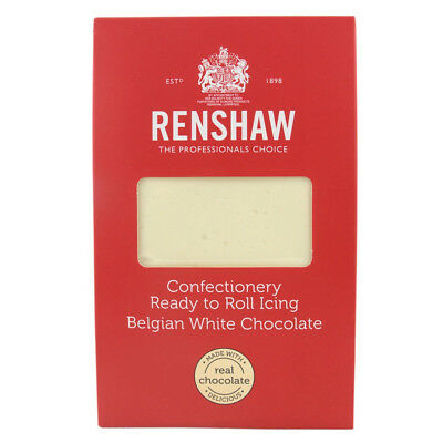 Renshaw Confectionery Ready to Roll Icing WHITE CHOCOLATE 1KG Sugarpaste Fondant