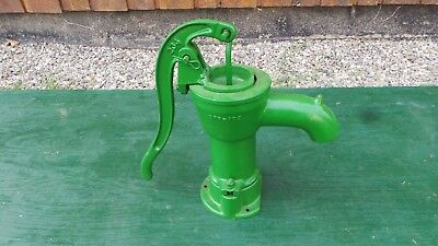 "Vintage Cast Iron Hand WATER PUMP in Great Condition 15"" High"