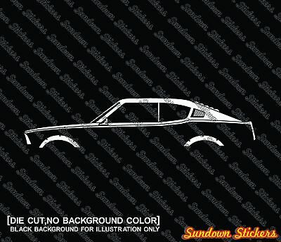 2X Car silhouette stickers - for Mitsubishi Galant GTO GS-R, classic jdm coupe