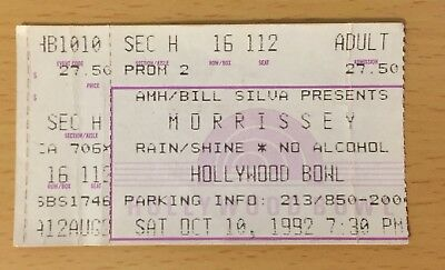 1992 Morrissey Hollywood California Concert Ticket Your Arsenal Tour The Smiths