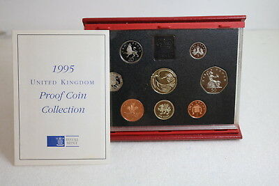 1995 Royal Mint Deluxe Proof Coin Set In Red Case With Coa A93 Rcg41