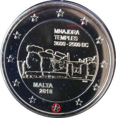#rm# 2 Euro Commemorative Malte 2018 - Temple Mnajdra - Mint Mark F