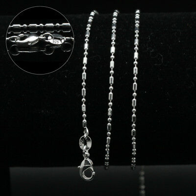 Hot sale~ Fashion Jewelry Silver Plated Hexagonal Chain Necklace 16-30''