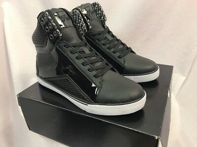 b59c2747c Pastry Pop Tart Grid Black High Top Sneakers, Womens Size 11, New in Box
