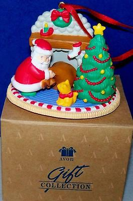 Vintage Avon Christmas with Santa Ornament DELIVERING GIFTS ORNAMENT