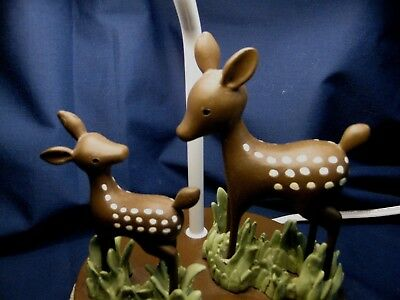 DARLING accent table lamp kids room Deer fawn squirrel forest animals KIDS LINE