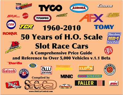 50 Years of HO Slot Car 1960-2010 260pg 5k+ Cars  Reference Price Guide BETA 1.1