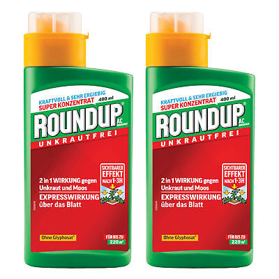 Roundup AC Concentrate 2 X 400ml - Weed Killer Weed Free Weed Moss