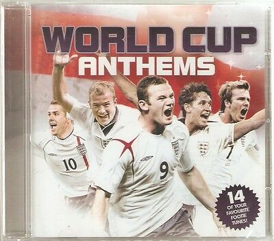 WORLD CUP ANTHEMS CD - 14 FOOTBALL SONGS - Come on England, Three Lions + more