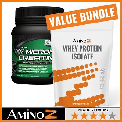 Balance 100% Pure Micronised Creatine 250g + Amino Z Whey Protein Isolate 1kg [3
