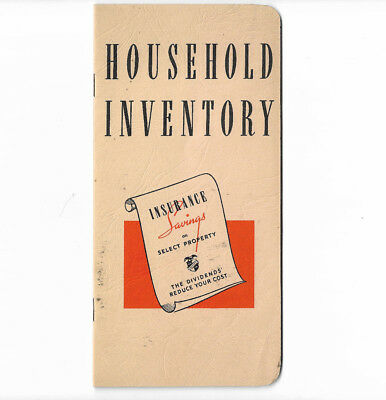 Indiana Lumbermens Mutual Insurance Vtg 1950s Household Inventory Folder UNUSED
