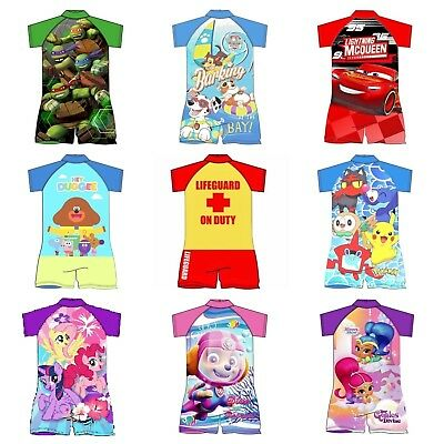 Boys Girls Character Kids Surf Suit Swim Suit Swimming Costume Ages 1-5 Years